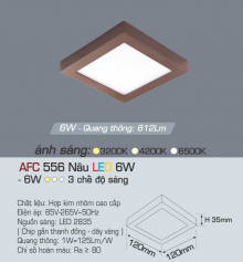 Đèn led nổi cao cấp 3 chế độ AFC 556N 6W 3C