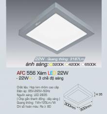 Đèn led nổi cao cấp 3 chế độ AFC 556X 22W 3C