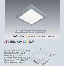 Đèn led nổi cao cấp 1 chế độ AFC 556X 6W 1C