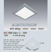 Đèn led nổi cao cấp 3 chế độ AFC 556X 6W 3C
