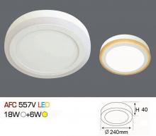 Đèn led nổi cao cấp 1 chế độ AFC 557V 18W+6W