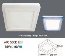 Đèn led nổi cao cấp 1 chế độ AFC 560D 18W+6W