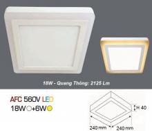 Đèn led nổi cao cấp 1 chế độ AFC 560V 18W+6W