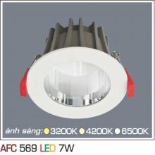 Đèn downlight led 1 chế độ AFC 569 7W