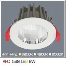 Đèn downlight led 1 chế độ AFC 569 9W