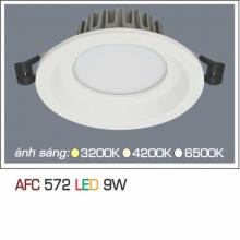 Đèn downlight led 1 chế độ AFC 572 9W 1C
