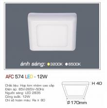 Đèn led nổi cao cấp 1 chế độ AFC 574 12W