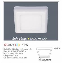Đèn led nổi cao cấp 1 chế độ AFC 574 18W