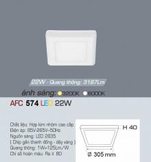 Đèn led nổi cao cấp 1 chế độ AFC 574 22W