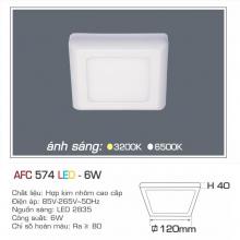 Đèn led nổi cao cấp 1 chế độ AFC 574 6W