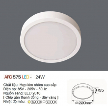 Đèn led nổi cao cấp 1 chế độ AFC 575 24W