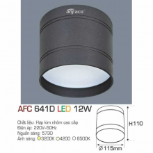 Đèn lon nối led AFC 641D 12W