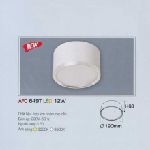 Đèn lon nối led AFC 649T 12W 1C