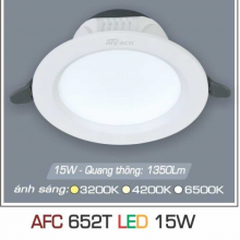 Đèn downlight led 1 chế độ AFC 652T 15W