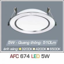 Đèn downlight led 1 chế độ AFC 674 5W 1C