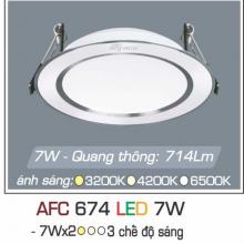 Đèn downlight led 3 chế độ AFC 674 7W 3C