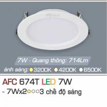 Đèn downlight led 3 chế độ AFC 674T 7W 3C