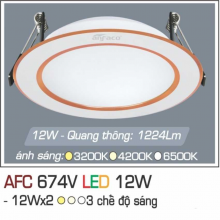 Đèn downlight led 3 chế độ AFC 674V 12W 3C