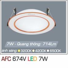 Đèn downlight led 1 chế độ AFC 674V 7W 1C