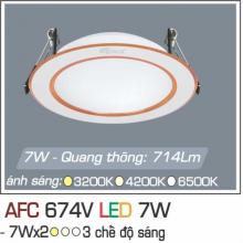 Đèn downlight led 3 chế độ AFC 674V 7W 3C