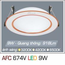 Đèn downlight led 1 chế độ AFC 674V 9W 1C
