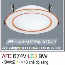 Đèn downlight led 3 chế độ AFC 674V 9W 3C
