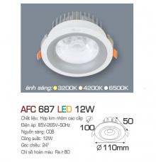 Đèn downlight led 1 chế độ AFC 687 12W