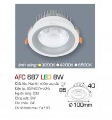 Đèn downlight led 1 chế độ AFC 687 8W