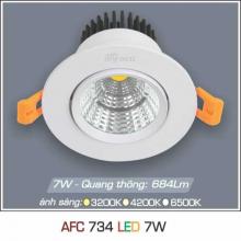 Đèn downlight led 1 chế độ AFC 734 7W