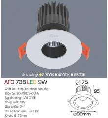 Đèn downlight led 1 chế độ AFC 738 9W