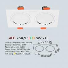 Đèn downlight led 1 chế độ AFC 754/2 5Wx2