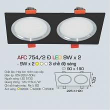 Đèn downlight led 3 chế độ AFC 754/2 ĐEN 9Wx2 3C