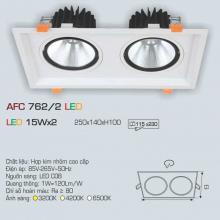 Đèn downlight led 1 chế độ AFC 762/2 15Wx2