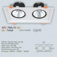 Đèn downlight led 1 chế độ AFC 762/2 7Wx2