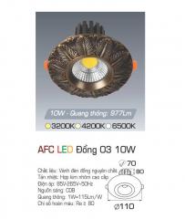 Đèn downlight led 1 chế độ AFC ĐỒNG 03 10W