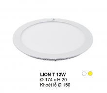 Đèn downlight led LION Đèn âm trần tròn 12w
