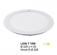 Đèn downlight led LION Đèn âm trần tròn 18w