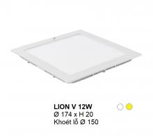 Đèn downlight led LION Đèn âm trần vuông 12w