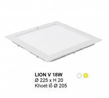 Đèn downlight led LION Đèn âm trần vuông 18w
