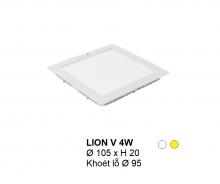 Đèn downlight led LION Đèn âm trần vuông 4w