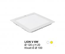 Đèn downlight led LION Đèn âm trần vuông 6w