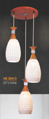 Đèn thả gỗ NB 389/3