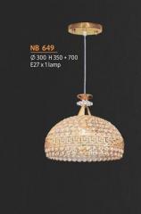 Đèn thả pha lê NB 649