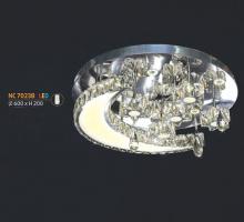 Áp trần pha lê Led tròn NC 7023B
