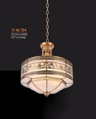 Đèn chùm đồng NC 754