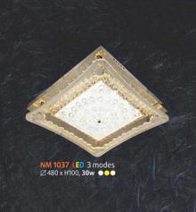 Áp trần pha lê Led vuông NM 1037