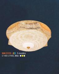 Áp trần pha lê Led tròn NM 5123