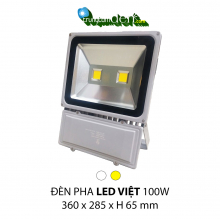 Đèn pha led  PHA LED 100w Trắng + Vàng