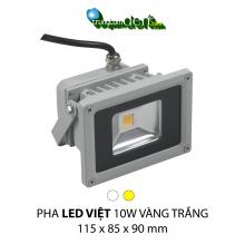 Đèn pha led  PHA LED 10W Trắng + Vàng