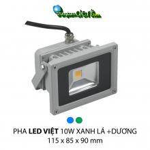Đèn pha led  PHA LED 10W Xanh Lá + Dương